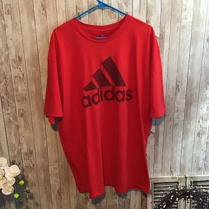 Men's Adidas Red T-shirt Size 2XL